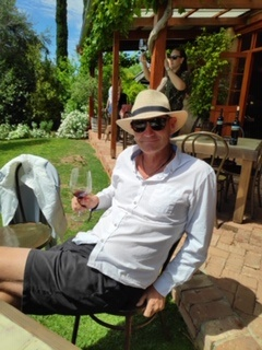 Dave- the owner and host at Brighton Beach Retreat, pictured here at a local Winery