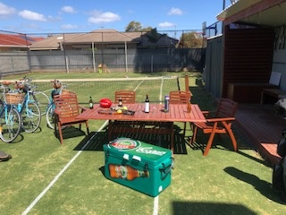 Table-and-Esky - Your beverages will be kept cool, we also have a built in Gas BBQ and fridge in the outdoor Alfresco area